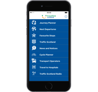 Download the Traveline Scotland app